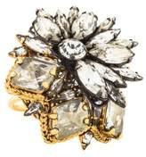 Erickson Beamon Crystal Chain Gang Ring
