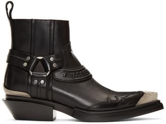 Balenciaga Black Santiag Booties