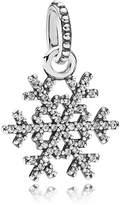 Pandora Snowflake silver pendant with cubic zirconia