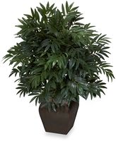 Bed Bath & Beyond Nearly Natural35-Inch Double Bamboo Palm with Decorative Planter