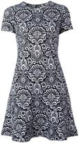 MICHAEL Michael Kors tapestry print flounce dress - women - Cotton/Polyester/Spandex/Elastane - 8