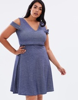 Double Layer Denim Jersey Dress