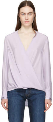 Rag & Bone Purple Silk Victor Blouse