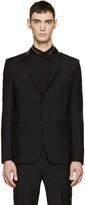Givenchy Black Wool Zippered Blazer