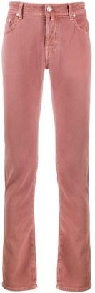 Jacob Cohen Mid-Rise Straight-Leg Trousers