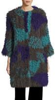 Armani Collezioni Multicolour Lamb Fur Coat