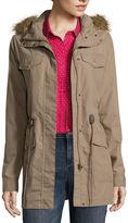 Liz Claiborne Fur-Trim Anorak Jacket