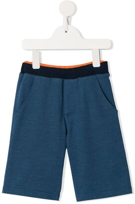 Familiar Contrasting Waistband Shorts