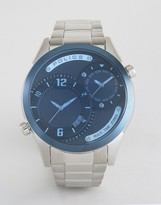 Police Dugite Silver Steel Watch