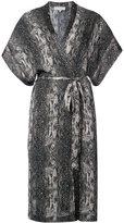 Fleur Du Mal snakeskin print robe