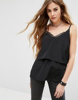 Noisy May Lace Detail Strap Top