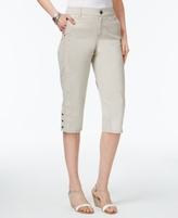 Style&Co. Style & Co Style & Co Petite Snap-Hem Capri Pants, Created for Macy's