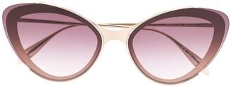 Alexander McQueen Eyewear Gradient Lens Cat-Eye Sunglasses