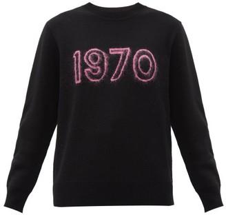 Bella Freud 1970 Merino Wool-blend Sweater - Black Pink