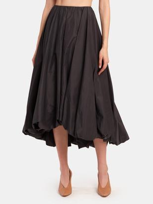 STAUD Mariposa Bubble Midi Skirt