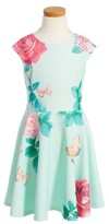 Hannah Banana Toddler Girl's Floral Scuba Dress