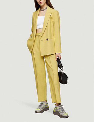 Topshop Double-breasted woven blazer