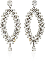 Jennifer Behr Josephine Gunmetal-Plated Swarovski Crystal Earrings