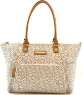 Calvin Klein Monogram Tote Purse Shoulder Bag, Work School Office Travel