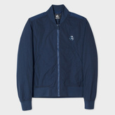 Paul Smith Men's Navy Textured Iridescent Bomber Jacket