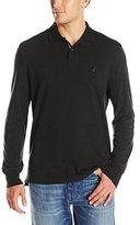 Nautica Men's Long Sleeve Solid Deck Shirt