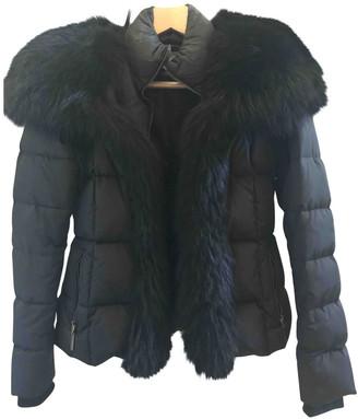 Roberto Cavalli Black Polyester Coats