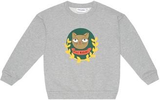 Mini Rodini Cat Badge cotton sweatshirt
