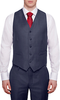 Hackett London Italian Sharkskin Wool Waistcoat, Airforce Blue