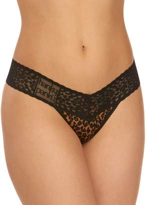 Hanky Panky Cat Nap Lace-Trimmed Thong