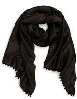 Bajra Women's Pompom Silk & Cashmere Shawl