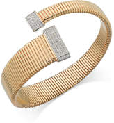 Macy's Diamond Wrap Bangle Bracelet (1/2 ct. t.w.) in 14k Gold over Sterling Silver