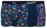 Mantaray Pack Of Three Purple Floral Print Keyhole Trunks
