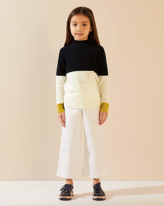 Jigsaw Colour Block Cosy Neck Jumper