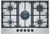 Neff T27DS59N0 Gas Hob, Stainless Steel