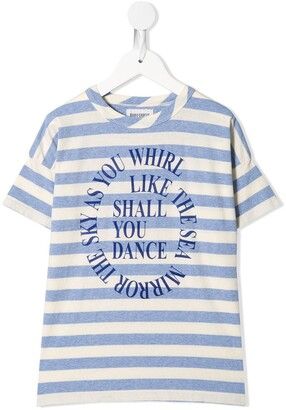 Bobo Choses Shall You Dance striped T-shirt