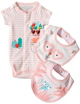 Little Marc Jacobs Set of Jersey Bodysuit and Bibs (Infant)