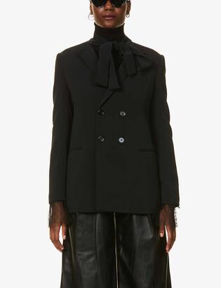 RED Valentino Padded-shoulder stretch-woven blazer