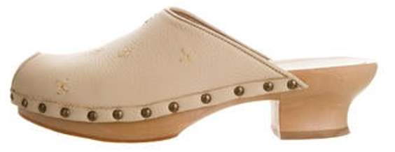 Henry Beguelin Leather Peep-Toe Sandals Beige Leather Peep-Toe Sandals