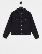 Thumbnail for your product : Brave Soul Bloom denim jacket in black