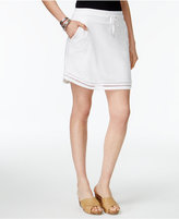 Style&Co. Style & Co Drawstring Crochet-Trim Skort, Created for Macy's