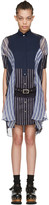 Sacai Navy Striped Shirt Dress