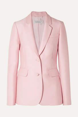 Gabriela Hearst Sophie Wool And Silk-blend Blazer - Baby pink