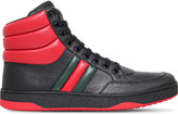 Gucci Ronnie Padded Leather High-top Trainers