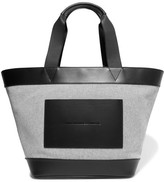 Alexander Wang Leather-trimmed Woven Canvas Tote - Gray