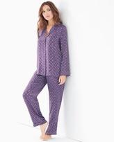 Soma Intimates Silk Pajama Set Foulard