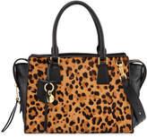 Cole Haan Marli Leopard-Print Square Satchel Bag