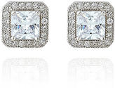 The Limited Sterling Silver Square Halo Earrings