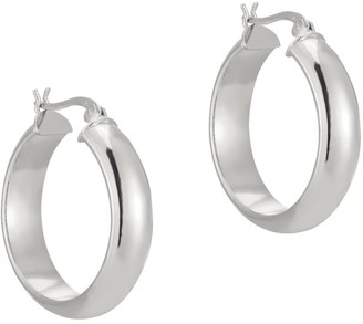 Seol + Gold Sterling Silver Large Rounded Creole Hoops