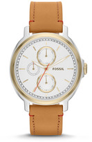 Fossil Chelsey Multifunction Tan Leather Watch