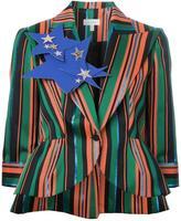 DELPOZO peaked lapels striped blazer - women - Silk/Polyester/Viscose - 38